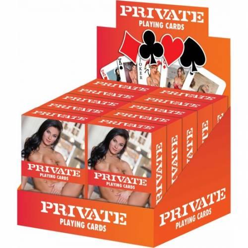 PRIVATE CARTAS DE JUEGO DISPLAY 10UDS