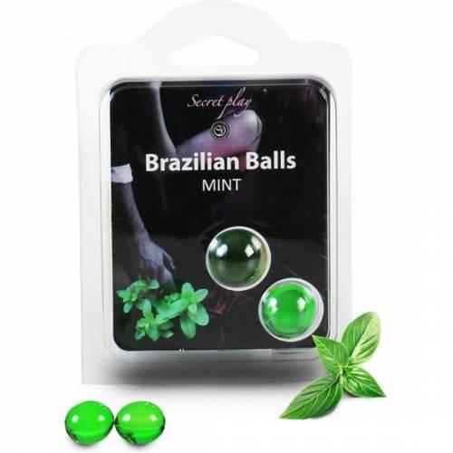 SECRET PLAY SET 2 BRAZILIAN BALLS AROMA MENTA